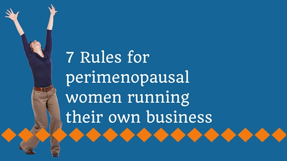 blog post 7 rules perimenopausal