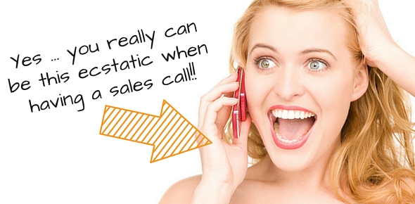 happy having a sales call