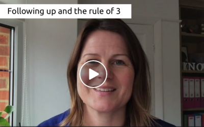 Following up and the rule of 3