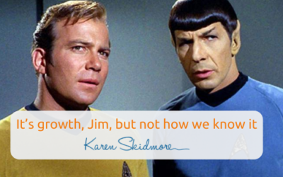 It's growth, Jim, but not how we know it